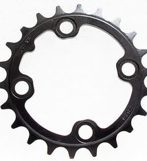 TruVativ TruVativ Trushift 22t 64mm BCD 8 and 9 Speed and 2x10 Chainring Black Alloy