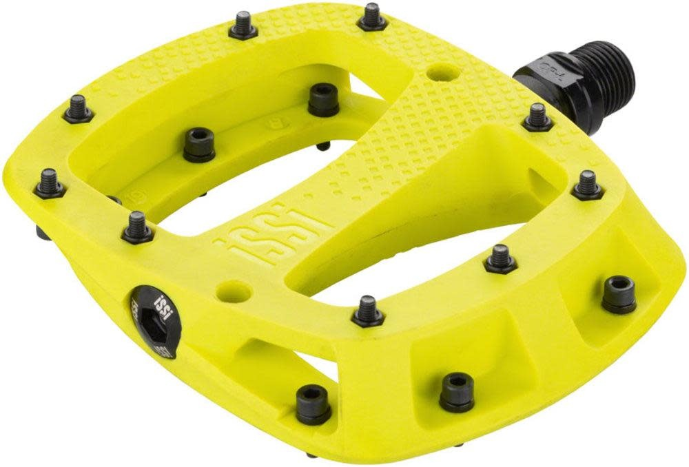 """iSSi iSSi Thump Pedals - Platform, Composite, 9/16"""", Yellow, Small, Replaceable Pins"""
