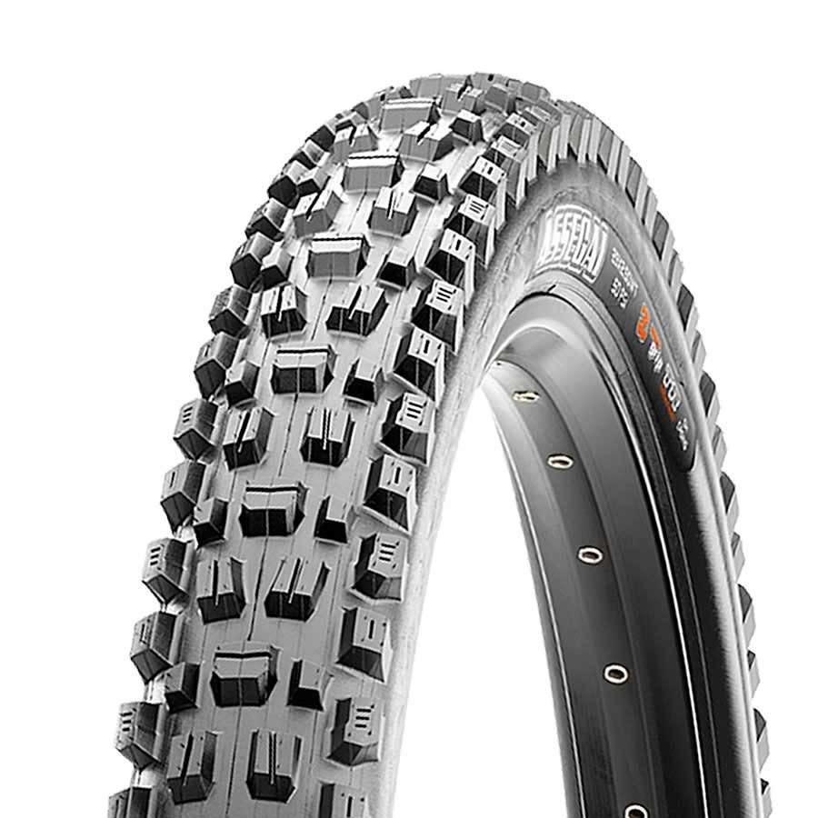Maxxis Maxxis, Assegai, Tire, 29''x2.50, Folding, Tubeless Ready, 3C Maxx Grip, Double Down, Wide Trail, 120x2TPI, Black