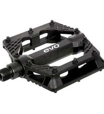 EVO EVO, Freefall Sport, Platform Pedals, Body: Nylon, Spindle: Cr-Mo, 9/16'', Black, Pair