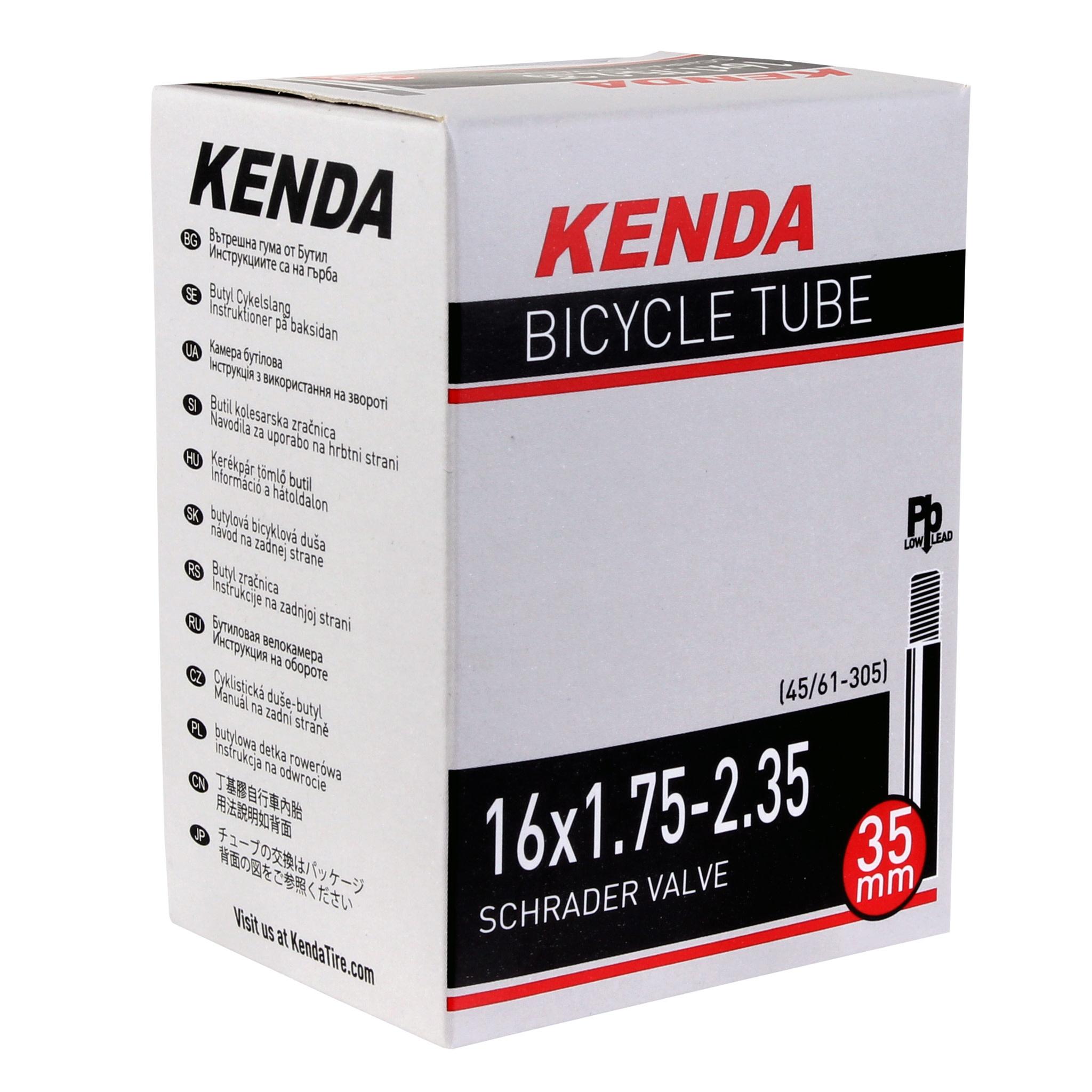 Kenda Kenda, Schrader, Tube, Schrader, Length: 35mm, 16'', 1.75-2.35