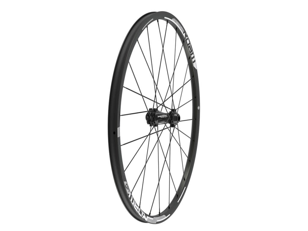 "SRAM Wheel Roam 40 27.5"" Front UST Aluminum Clincher Tubeless Compatible, Black/Silver, Convertible (includes Quick Release &15x100mm Through Axle Caps) - A1"