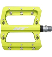 HT Components HT Components, AN14A, Nano, Platform Pedals, Body: Aluminum, Spindle: Cr-Mo, 9/16'', Green, Pair