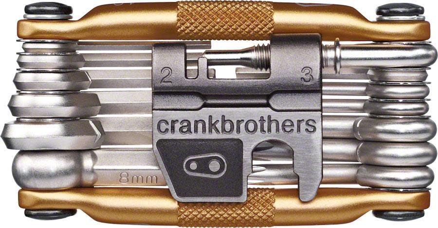 Crank Brothers Multi-19 Mini Tool with Flask, Gold