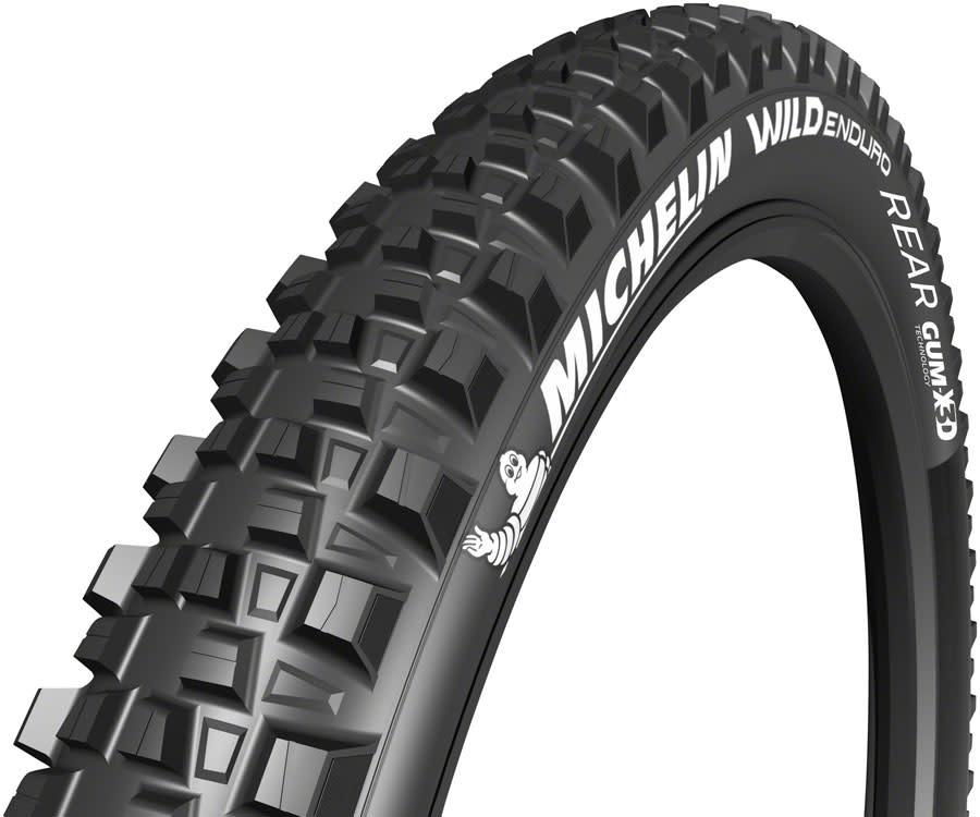 """Michelin Michelin, E-Wild Rear, Tire, 29""""x2.60, Folding, Tubeless Ready, E-GUM-X, GravityShield, 3x60TPI, Black"""