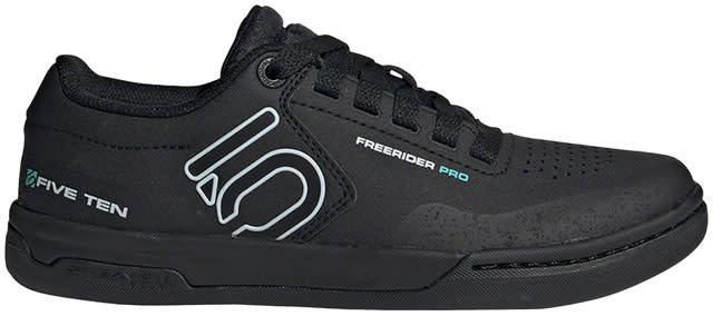 Five Ten Five Ten Freerider Pro Flat Shoe - Women's, Core Black / Crystal White / Acid Mint, 8.5