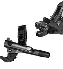 Shimano Shimano Deore BL-M6100/BR-M6120 Disc Brake and Lever - Rear, Hydraulic, Resin Pads, Gray