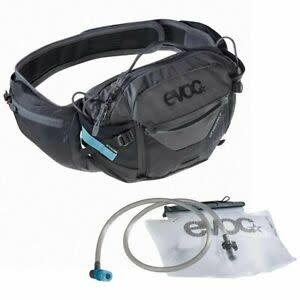 EVOC EVOC, Hip Pack Pro, Hydration Bag, Volume: 3L, Bladder: Included (1.5L), Black/Carbon Grey