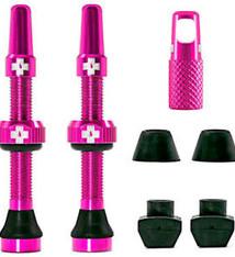 Muc-Off Muc-Off, Tubeless Valve, Presta, 44mm, Pink, Pair