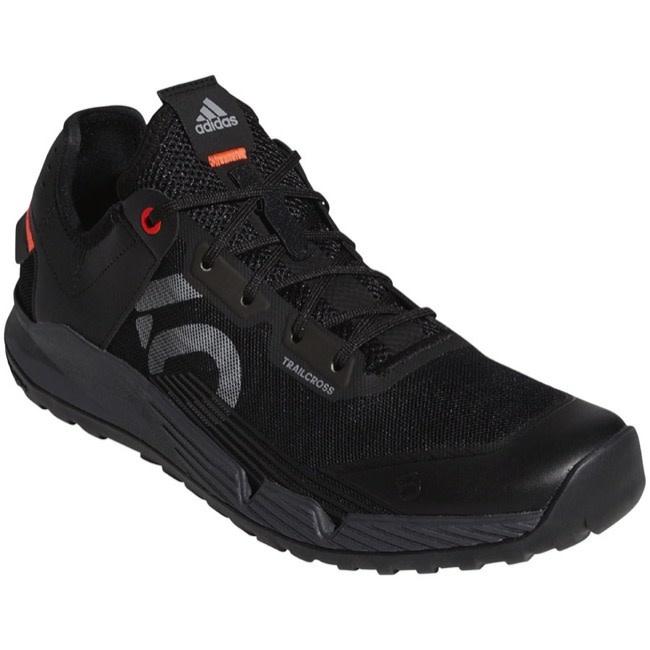 Five Ten Five Ten Trailcross LT Flat Shoe - Men's, Core Black / Grey Two / Solar Red, 8.5