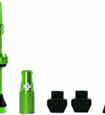 Muc-Off Muc-Off, Tubeless Valve, Presta, 44mm, Green, Pair