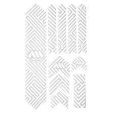 All Mountain Style Honeycomb Frame Guard XL, Maze/White