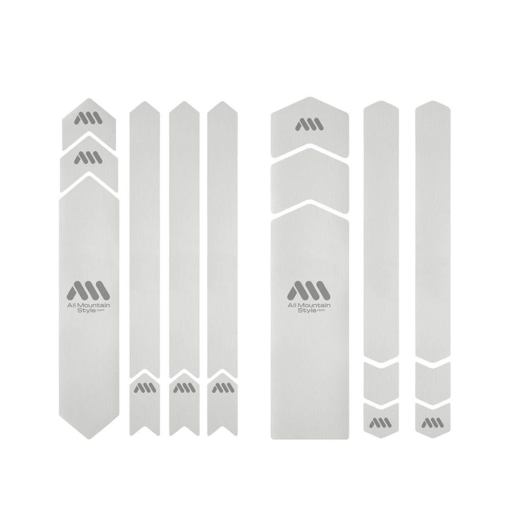 All Mountain Style Full Honeycomb Frame Guard, Clear/Silver