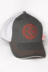 Head to Toe Apparel RMCAD Grey and White Crest Hat with Dome-heart Tag