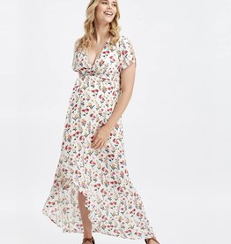 Glow Mama Fleur Wrap Maxi Dress - XS Only