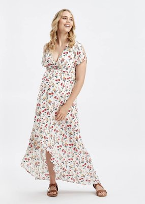 Glow Mama Fleur Wrap Maxi Dress - XS Only
