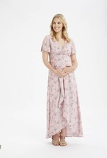 Glow Mama Camilla Wrap Maxi Dress