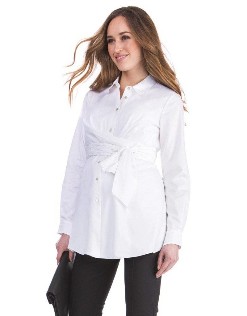 74f0a2ae974e42 Bronwen Wrap Shirt - GlowMama Maternity Wear