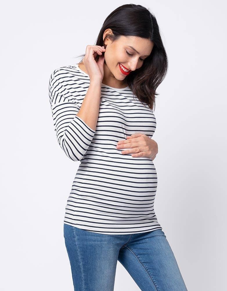 ecf83e3e22 Luna 3 4 Essential Nursing Top - GlowMama Maternity Wear