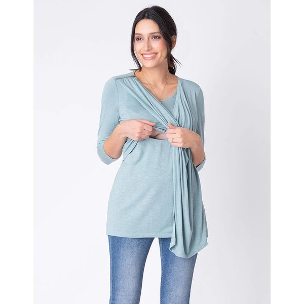 Marcy Drape Nursing Top