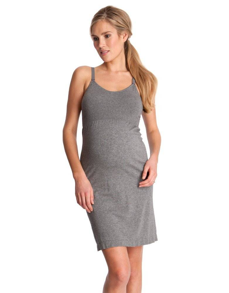 5e7bdff82213 Georgia Seamless Nursing Nightie - GlowMama Maternity Wear