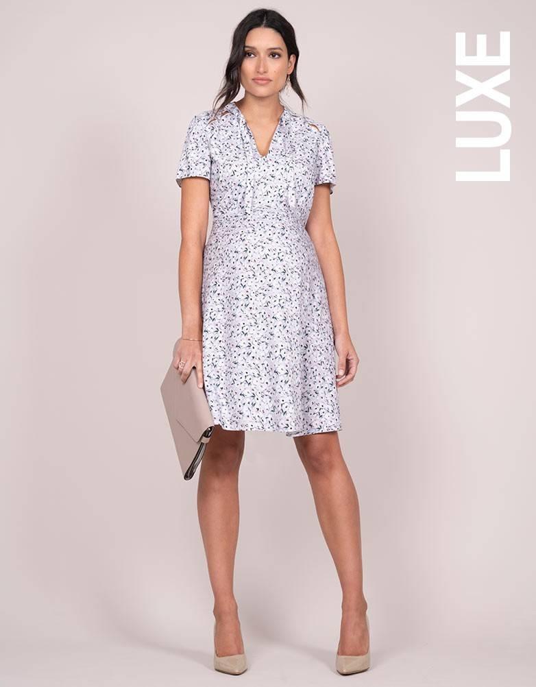 9c2f3666c130f Eponine Lavender Maternity Dress - GlowMama Maternity Wear
