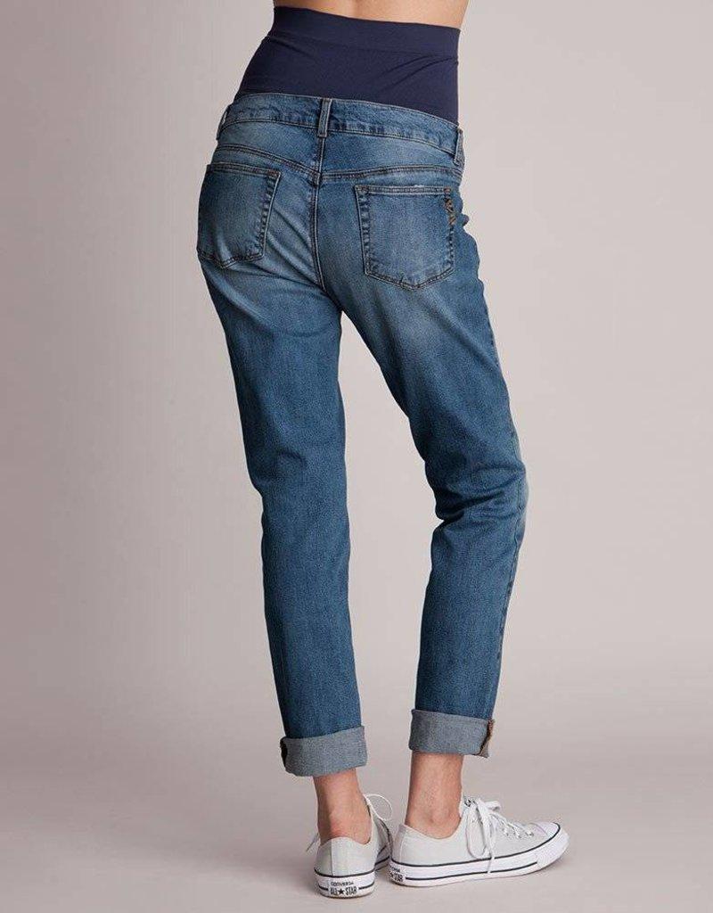9d155fd0bd42d Carson Slim Boyfriend Maternity Jeans - GlowMama Maternity Wear