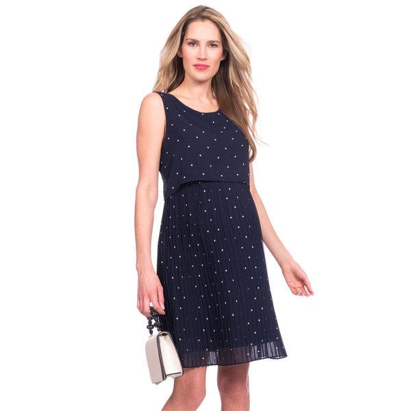 Kimmy Pleated Maternity & Nursing Dress