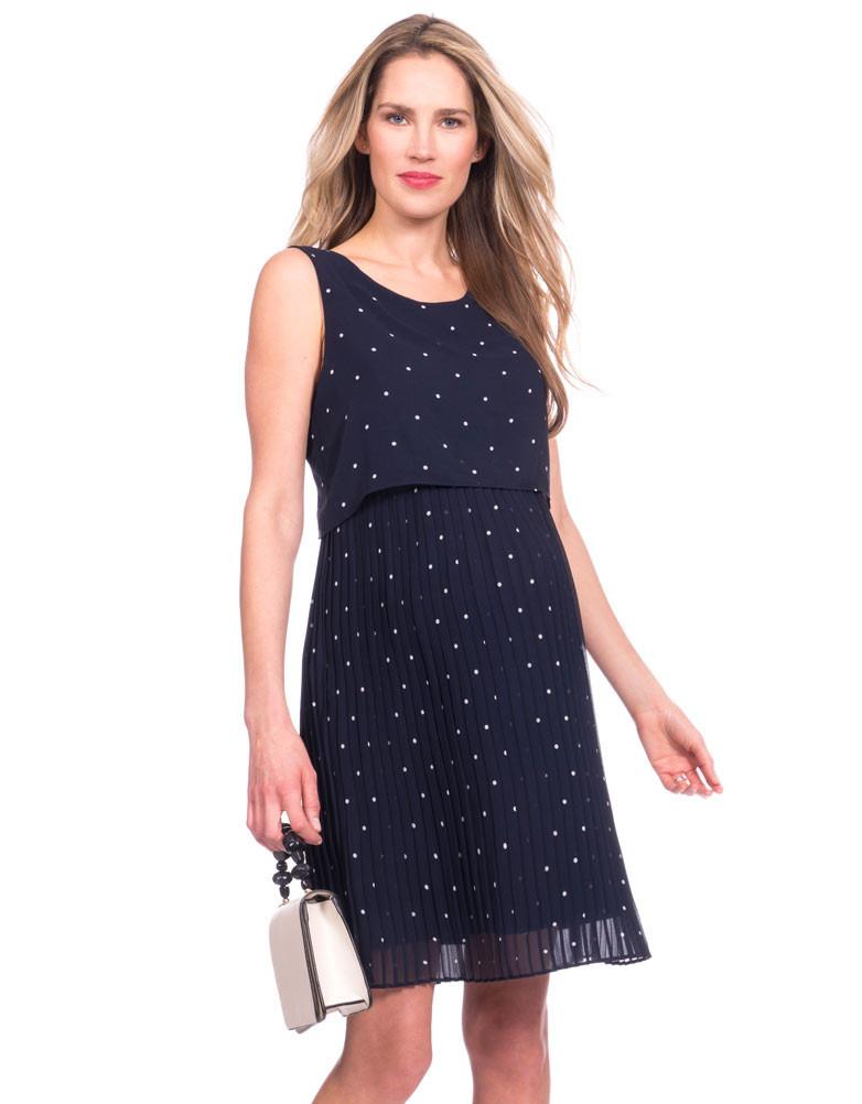 458a9ac91a Kimmy Pleated Maternity   Nursing Dress - GlowMama Maternity Wear