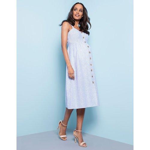 Seraphine Adalia Pinstripe Midi Nursing Dress