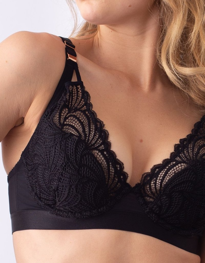 Hot Milk Warrior Plunge Bra