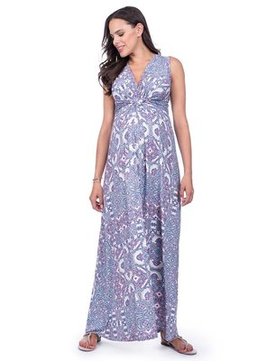 Seraphine Alder Sleeveless Maxi Knot Dress