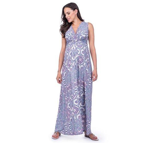 Seraphine Alder Sleeveless Maxi Knot Dress