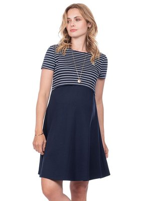 41c6b496a94 Seraphine Bethany Nautical Maternity   Nursing Dress