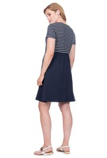 Seraphine Bethany Nautical Maternity & Nursing Dress