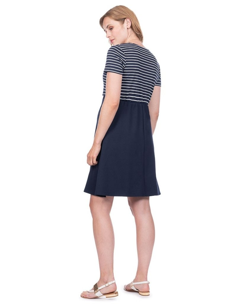 Seraphine Bethany Nautical Maternity & Nursing Dress