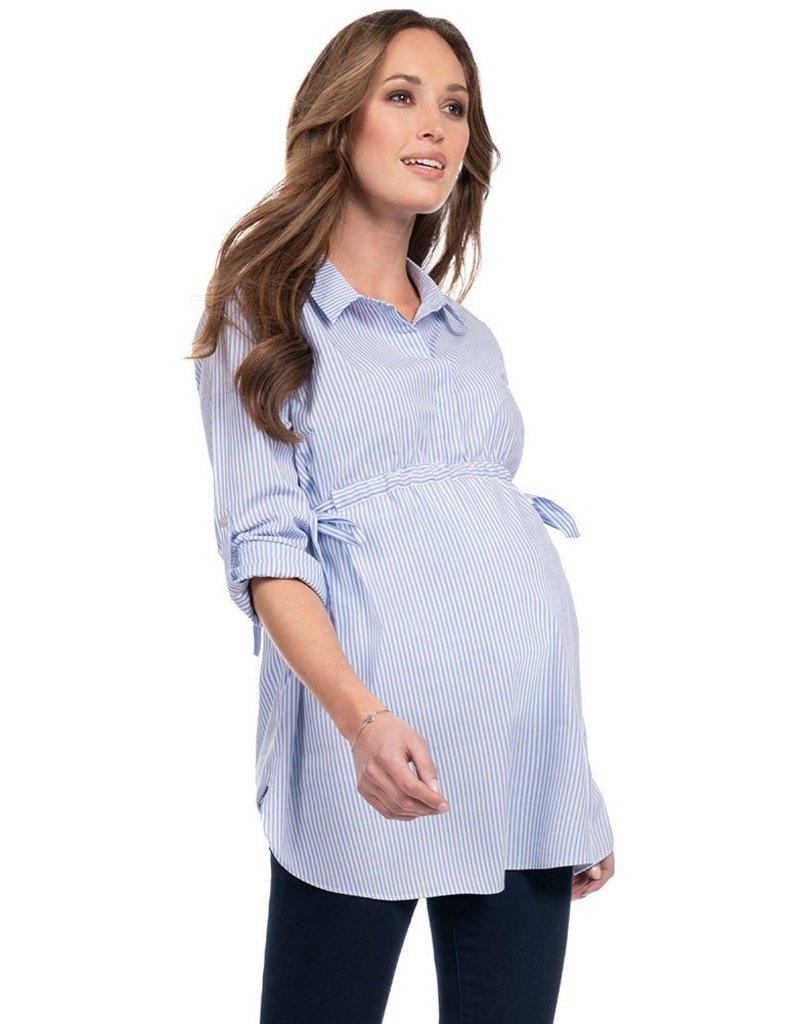 39a3999ee18ccc Hermia Draw Tie Shirt - GlowMama Maternity Wear