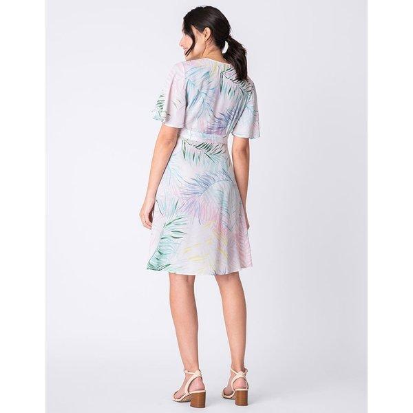 Josie Fluted Sleeve Wrap Dress