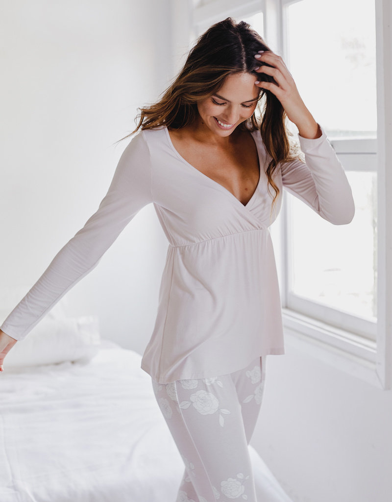 Bamboo Body Cross Front PJ Top