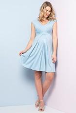 Seraphine Auburn Blue Dot Empire Maternity Dress