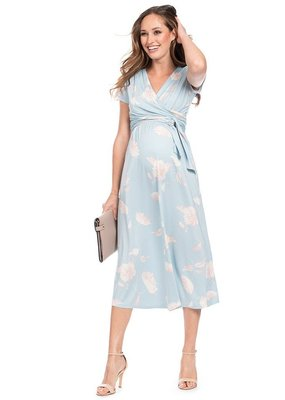 Seraphine Avril Midi Maternity & Nursing Wrap Dress