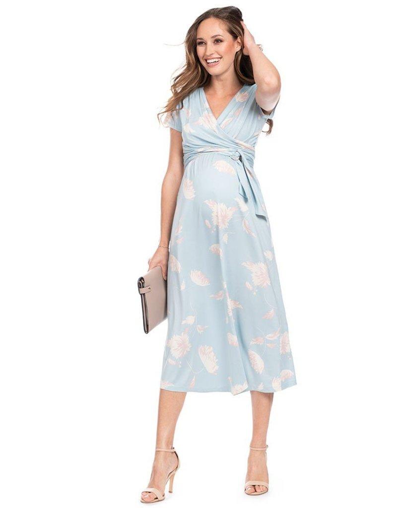 Seraphine Avril Midi Maternity & Nursing Wrap Dress