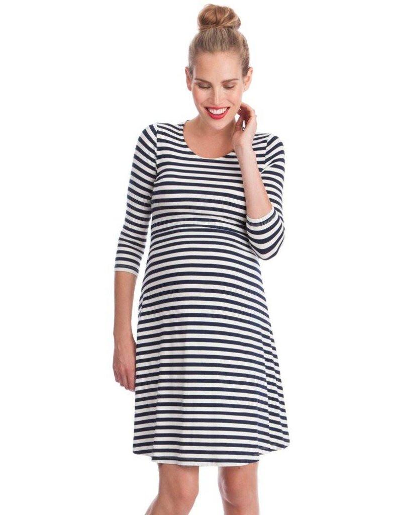 4ed69ea322821 Nursing Dresses - Seraphine Striped Maternity Dress - GlowMama ...