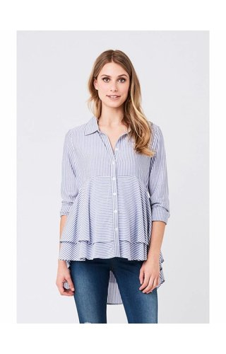 Ripe Stripe Layered Peplum Shirt