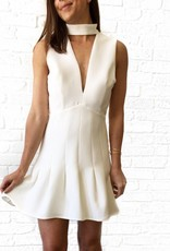 Ivory Keyhole Vneck Dress