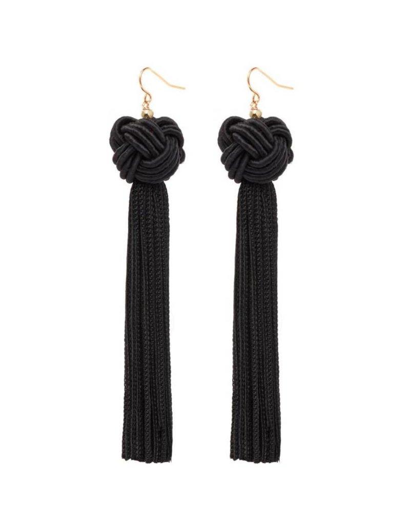 Astrid Knotted Tassel Earrings