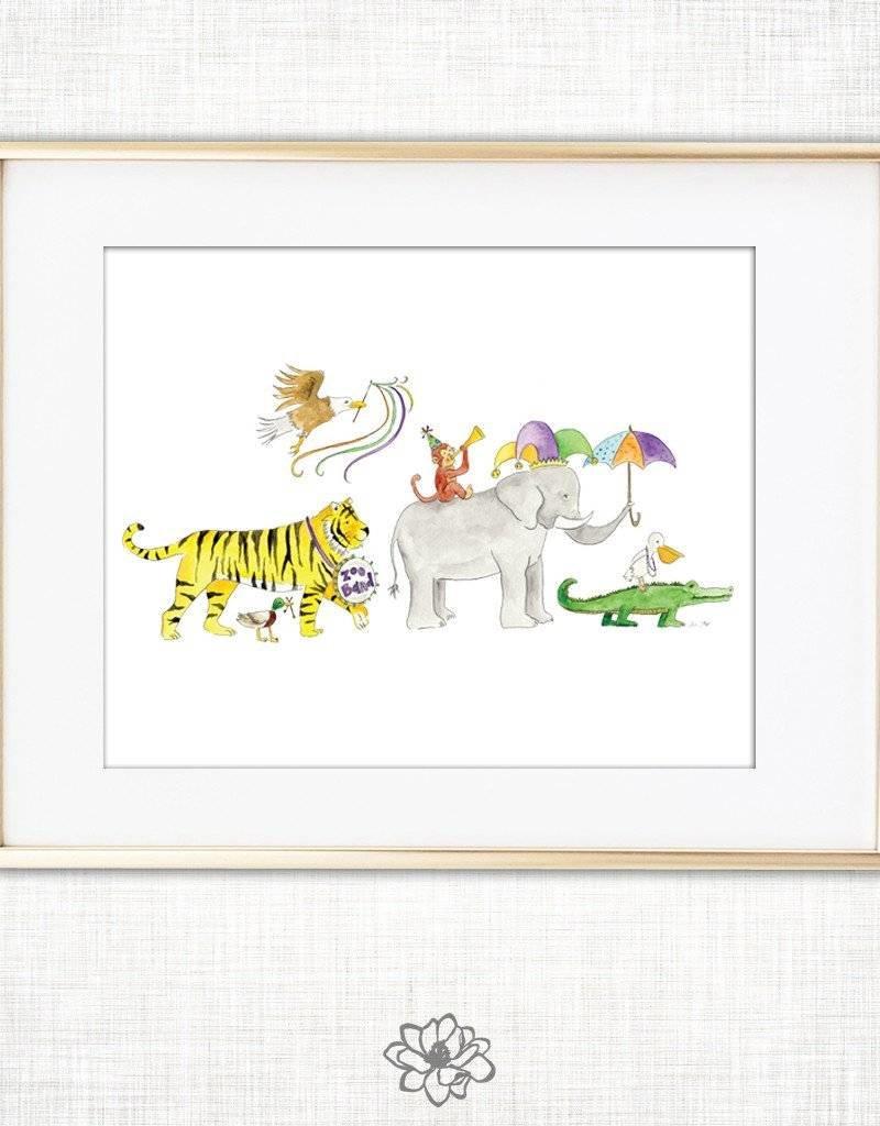 8x10 Zoo Band Art Print