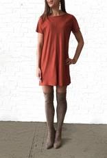 Rust Shift Suede Dress