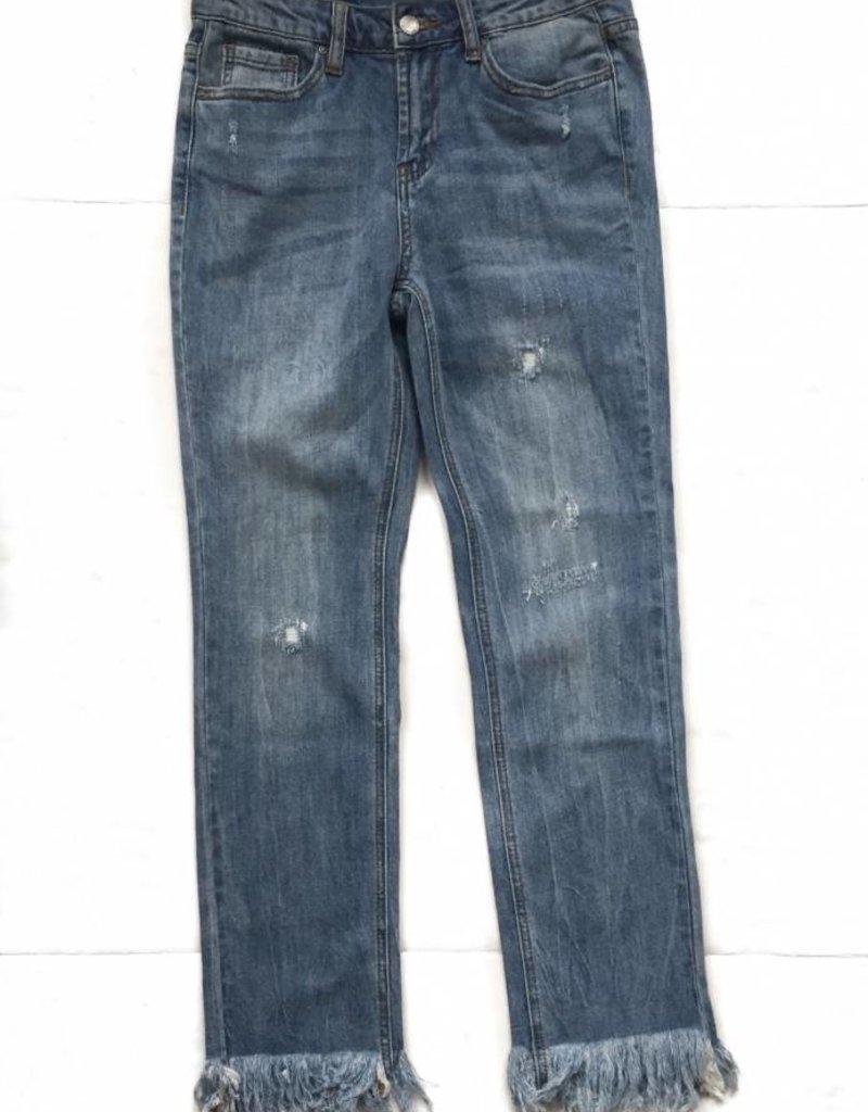 Fringe Denim Jeans