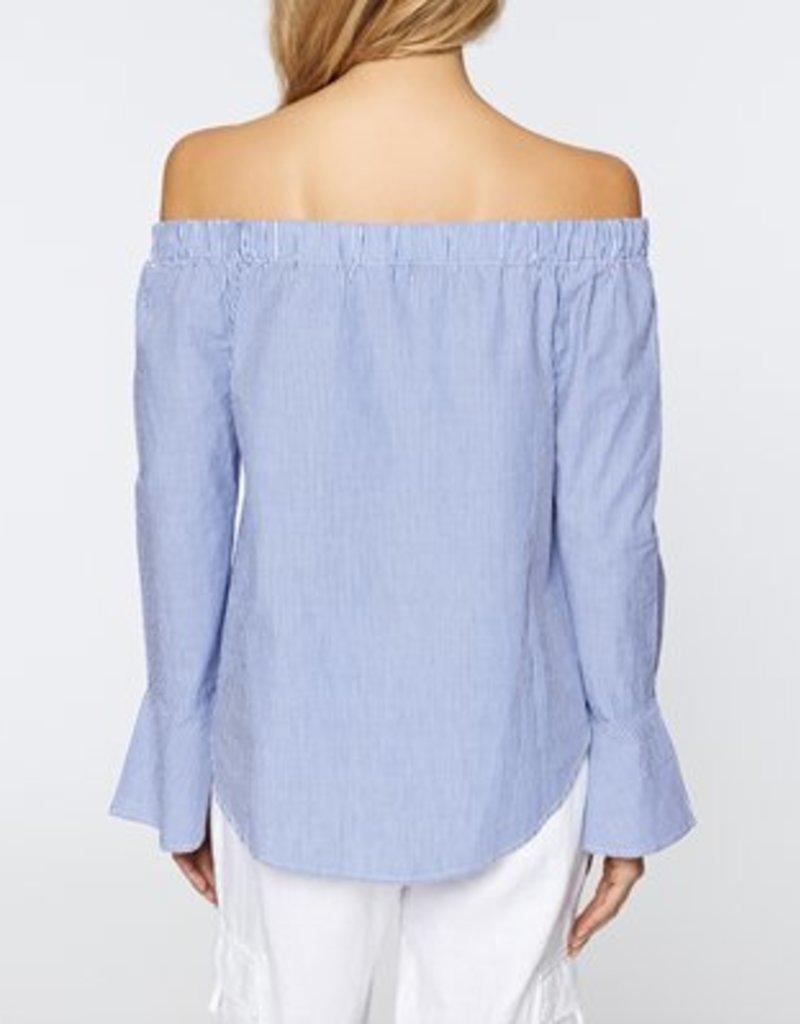 Core Stripe Off Shoulder Top
